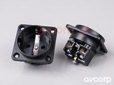 Original audio grade GIGAWATT G-040 schuko socket outlet for assembly - black