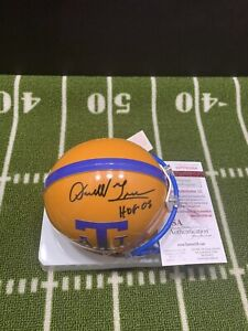 DARRELL GREEN SIGNED TEXAS A&I MINI HELMET HOF 2008 WASHINGTON REDSKINS JSA 064