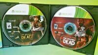 Walking Dead 1 GOTY + Season 2 Game - Microsoft Xbox 360 Game Lot - Tested Works