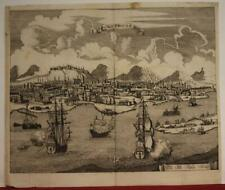 CAIRO EGYPT 1646 MERIAN UNUSUAL ANTIQUE ORIGINAL COPPER ENGRAVED CITY VIEW