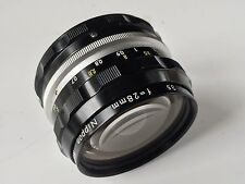 Nikon Nikkor - H Auto 28mm F3.5 M/F Wide Angle Lens - Excellent Condition