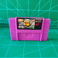 Super 120 in 1 for Nintendo SNES Multi Cart Game Cartridge Battery Save NTSC U/C