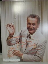 "LAWRENCE WELK  Hand Signed  8 X  10  ""    Photo Autograph  authentic !"