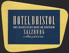 Hotel Koffer Etikett / luggage label - Hotel Bristol Salzburg Austria