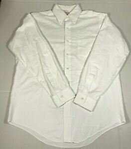 Brook Brothers Vintage Long Sleeve Shirt Button Up White Oxford Red label 15.5