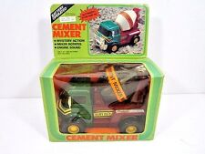 VINTAGE 1982 BATTERY OPERATED CEMENT MIXER TRUCK IN ORIGINAL BOX 1980'S TOY