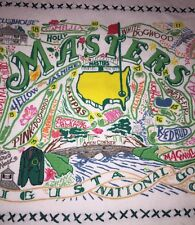 2017 Masters Augusta National Catstudio Hand Kitchen Tea Towel Limited NWT