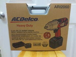 ACDelco ARI2060 18V Li-ion 1/2-inch Super-Torque Impact Wrench Kit (Taiwan)