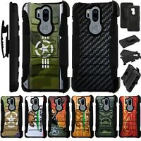 For LG G7 ThinQ Holster Case Armor Kickstand Cover LuxGuard J10