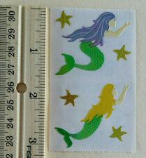 Mrs Grossman SPARKLE MERMAID Strip of Mermaids and Star Fish Stickers/'