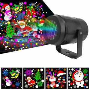 Outdoor LED Moving Snowflake Laser Light Projector Lamp Christmas Party Decor.