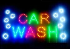 Led Business Car Wash Sign Open Bright Light with On/Off Switch Gas Station Neon