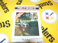 White Oliver Tractor Field Boss 21 Tractor Dealer's Brochure