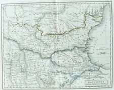 Old Antique Map Macedonia by S Hall c1829 19th Century Engraving