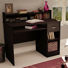 Espresso Brown Desk Student Workstation with Hutch and Drawer - FREE SHIPPING