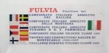 LANCIA FULVIA/ ADESIVO VETROFANIA/ REAR GLASS STICKER