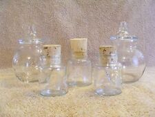 ETCHED GLASS PRINCESS HOUSE HERITAGE JARS - SET OF 5