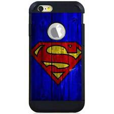 For Apple iPod Touch 5/6 5th/6th Gen. Hybrid Case Cover Superman Wood Blue