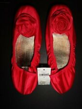 Nwt Gap Kids Red Rosette Ballet Flats Size 2 Girl's Shoes