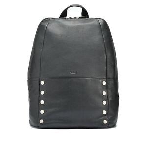 Hammitt Hunter LARGE Black 2 Gunmetal Backpack Leather Bag Handbag Lifetime NEW