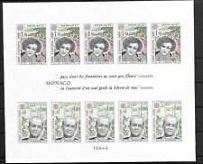 SMT, Monaco,1980, Europa-CEPT 'Personalities IMPERFORATE sheet, MNH, CV € 540