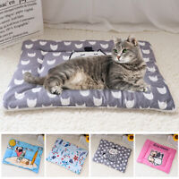 Fleece Cosy Warm Cat Dog Bed Blanket Pet Mat Cushion for Kennel Crate Washable