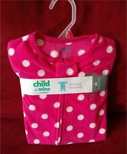 New Toddler Girls Child of Mine by Carters Fleece blanket Sleeper Pajamas 2T