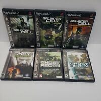 Tom Clancy's Splinter Cell/Ghost Recon Ps2 Playstation 2 Lot All Tested/Complete