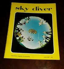 Vintage March 1967 Sky Diver Magazine Collectable