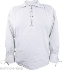 Schnürhemd Hemd Kragen Mittelalter Ritter Gothic Biker Piratenhemd Larp Antik