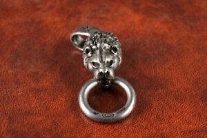 Rare Gaboratory 925 Silver Lion Head Pendant Necklace