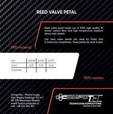 REED VALVE PETAL SELF-CUT PRO SHEET 100% CARBON - thickness 0.35mm/0.0137""