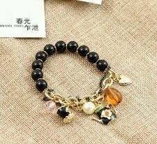Betsey Johnson Rare Alloy Rhinestone Enamel glaze black teapot Bracelets Jewelry