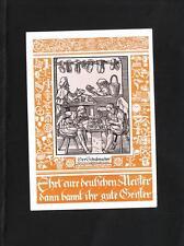 Germany Shoemaker Wagner Meistersinger Inscription Handwork 1938 Postcard z75