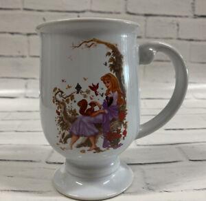 "Disney Store Princess Aurora Coffee Mug Footed 5"" Tall Cup NEW! Sleeping Beauty"