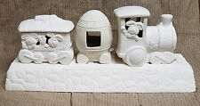 Ceramic Bisque Easter Train Light Kit PCM Mold 412 415 U-Paint Ready To Paint