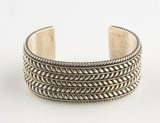 Tom Hawk Navajo Hand Made Silver Cuff Bracelet