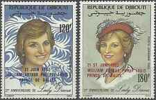 Timbres Lady Diana Djibouti PA172/3 ** lot 2757
