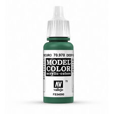 Vallejo Model Color: Deep Green - VAL70970 Acrylic Paint 17ml Bottle 072