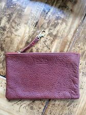 womens wallets/Magnes sisters Brown Leather Zip Pouch