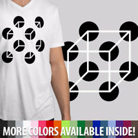 Cool Art Perspective Funny 2D Box or 3D Box ? Mens Unisex V-Neck Top Tee T-Shirt