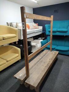 Vintage Changing Room Bench Coat Rack