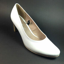 100% Leather Wide (E) Slim Heel Shoes for Women