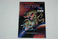 Super R-Type Super Nintendo SNES Video Game Manual Only