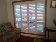 Custom Made PVC Plantation Shutter Internal Window Modern Hinged Bi-Fold Slider