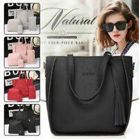 Damentaschen Set 4 in1 Shopper Schultertasche Handgelenktasche Etui Damentasche