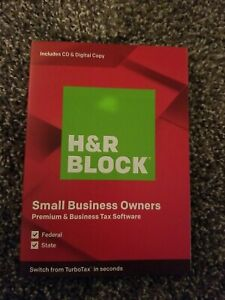 NEW H&R Block Premium & Business Tax Software 2019, Traditional Disc & Download