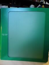 "Mead Five Star 1"" Green Binder with Front Window & Divide Plus 1/2"" White Binder"