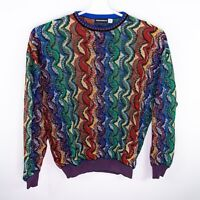 Vintage NEIMAN MARCUS USA Made Hip Hop Crazy Cosby Sweater Mens XL 90s Colorful