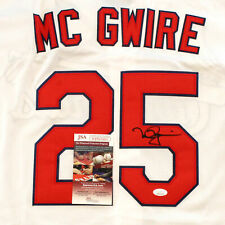 Mark McGwire Signed Autographed St. Louis Cardinals White Home Jersey JSA COA